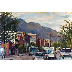 Shelby Keefe, Arriving in Boulder, Oil on Canvas