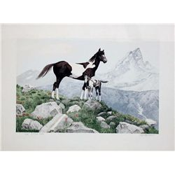 Mel Hunter, The Pinto, Signed Lithograph