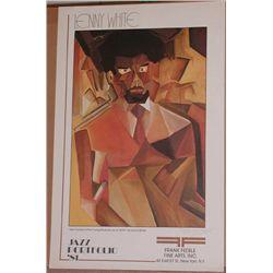 Signed Lenny White, Jazz Portfolio 88, Poster