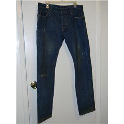 "Daniel Craig ""Dream House"" Screen Worn Distressed Dunhill Jeans"