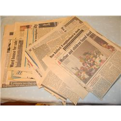 """""""Dream House"""" Prop Newspaper Clippings Handled by Daniel Craig"""