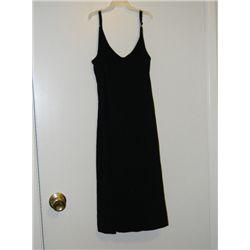 "Pamela Anderson ""VIP"" Screen Worn Black Obtique Dress"