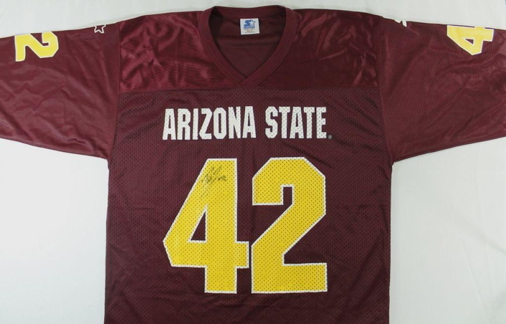 quality design f6cd0 e7845 Pat Tillman Signed ASU #42 Starter Jersey (JSA)