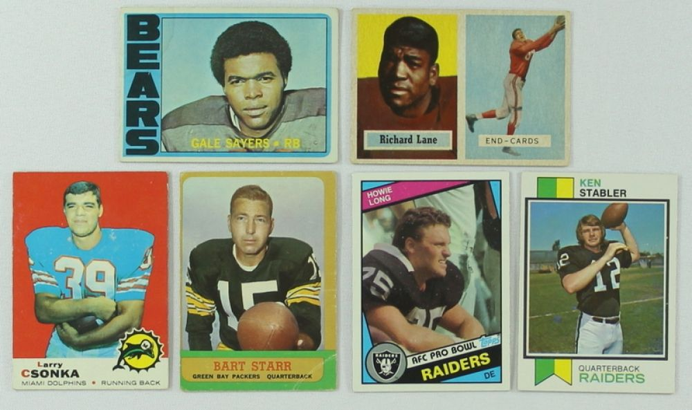 Lot Of 6 Vintage Football Cards With 1963 Topps 86 Bart