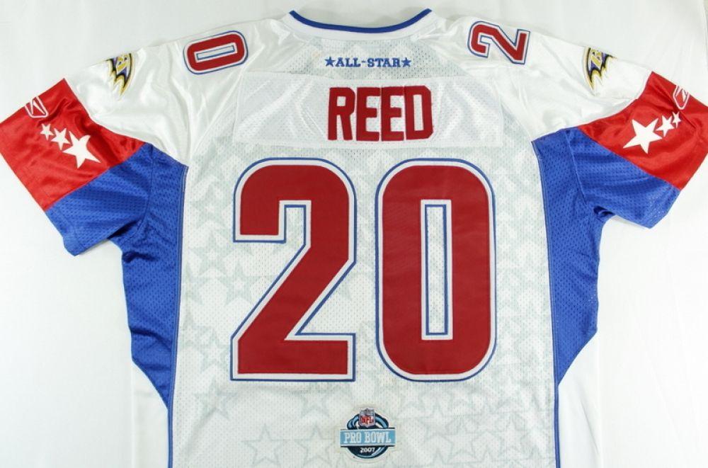 huge discount cd762 e6ec9 Ed Reed Signed Pro Bowl Jersey (JSA COA)