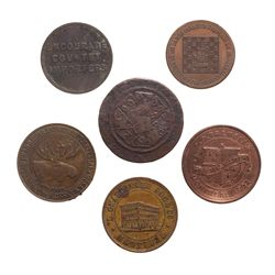 Six (6) Breton tokens,