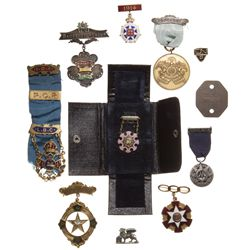 No Date. Masonic Medals,