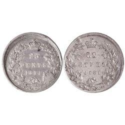 25 CENTS 1874-H