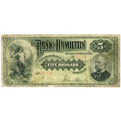 THE BANK OF HAMILTON.