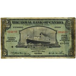 THE ROYAL BANK OF CANADA. West Indies, Grenada Issue.
