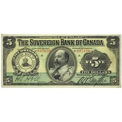 THE SOVEREIGN BANK OF CANADA