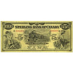THE STERLING BANK OF CANADA