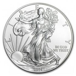 2014 American Silver Eagle Dollar Gem BU Coin MNTCN14