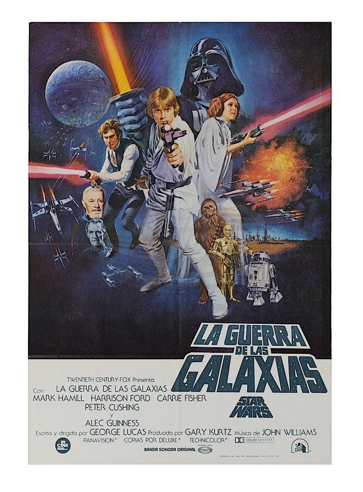 Star Wars Episode Iv A New Hope Original Spanish Release Poster