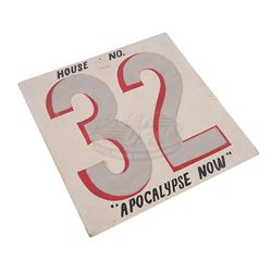 Apocalypse Now - Francis Ford Coppola Production Used House Number Sign