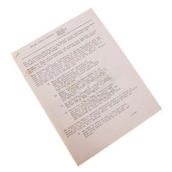"""Apocalypse Now - Original Production Used """"Extras"""" Guidelines Paperwork"""