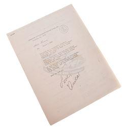 Apocalypse Now - Original Production Used Crew Contact List