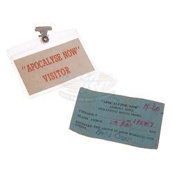 Apocalypse Now - Original Visitor Set Pass & Armory Dept Inventory Card