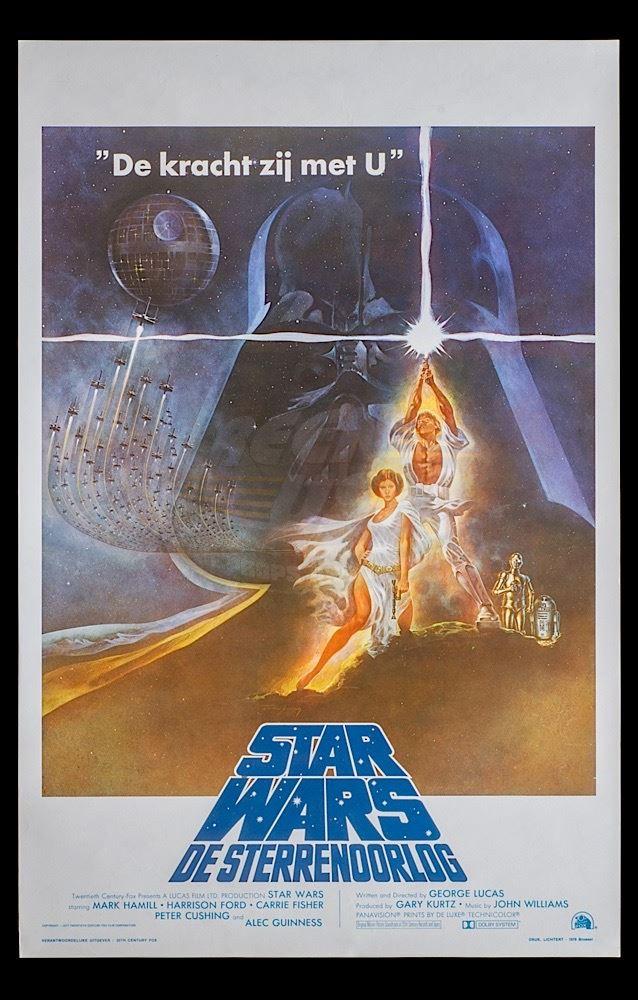 Star Wars Episode Iv A New Hope Original Belgian Release Poster
