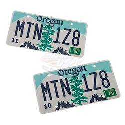 Burning Plain, The - Young Man's (Martin Papazian) Mercedes License Plates