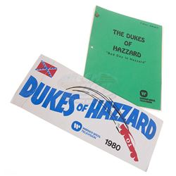 Dukes of Hazzard, The (TV) - Production Used Script & Parking Pass
