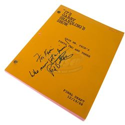 It's Garry Shandling's Show. (TV) - Red Buttons Autographed Script