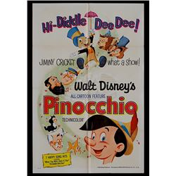 Pinocchio - Original Re-release 1971 One-Sheet Poster