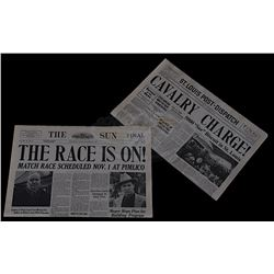 Seabiscuit - Prop Newspapers