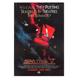 Star Trek V: The Final Frontier - Silver Foil Advance One-Sheet Poster
