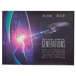 Star Trek: Generations - Autographed Original British Quad Poster