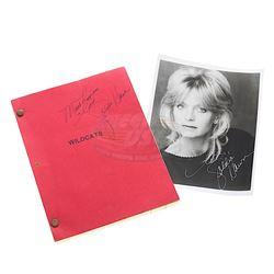 Wildcats - Goldie Hawn Autographed Script & Photograph
