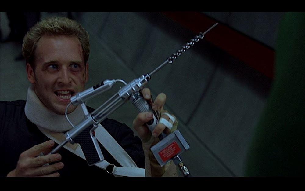 Hulk (2003) - Talbot's DNA Extracting Drill (Josh Lucas)