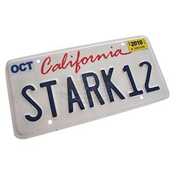 "Iron Man 2 - Tony's ""STARK12"" License Plate"