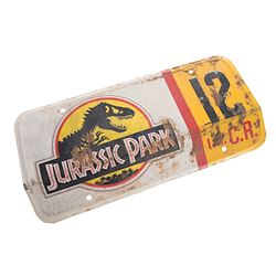 Jurassic Park - Jeep License Plate #12