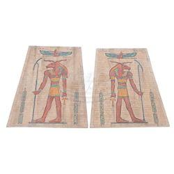 Mummy, The - Large Miniature Egyptian Motif Wall Panels