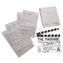 Package, The (1989) - Production Clapper Board, Script & Call Sheets
