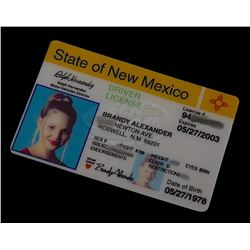 """Roswell (TV) - Isabel's """"Fake"""" Drivers License (Katherine Heigl)"""