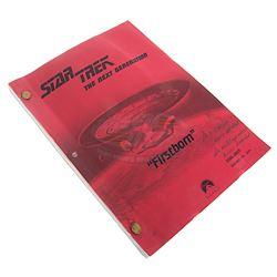 "Star Trek: The Next Generation (TV) - ""Firstborn"" Hair & Make-Up Script with Polaroids"