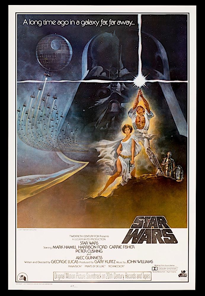 Star Wars Episode Iv A New Hope Rare Original Style A Soundtrack One Sheet