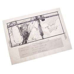 Star Wars: Episode V - The Empire Strikes Back - Rare Original Hand Drawn Storyboard of Luke Skywalk