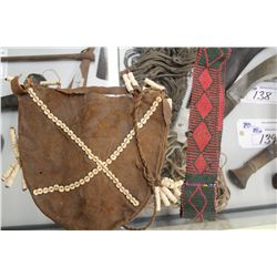 AUTHENTIC BUSHMEN POUCH, BEADS AND ROPE