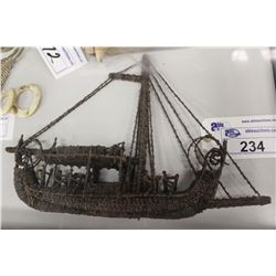 17TH CENTURY CLOVE BOAT, ORIGINALLY MADE IN THE MOLUCCAS, ORIGINALLY KNOWN AS THE SPICE ISLANDS