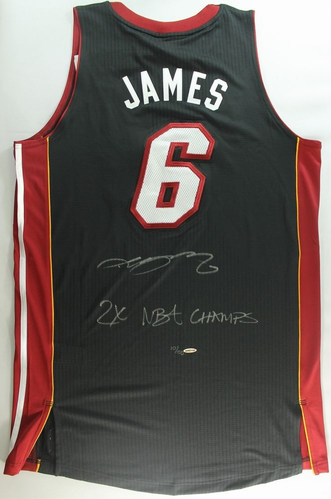 official photos 39558 82954 LeBron James Signed Limited Edition Miami Heat Authentic ...