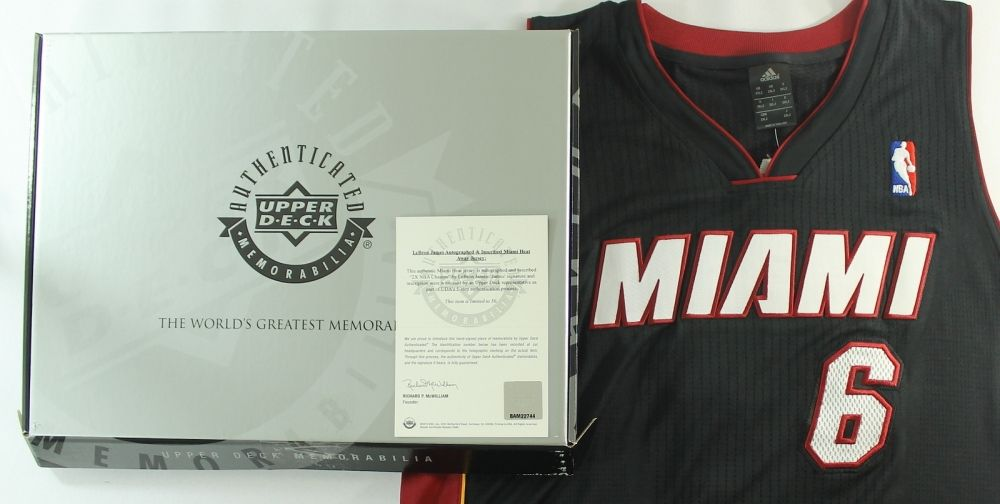 official photos 70ae9 041a0 LeBron James Signed Limited Edition Miami Heat Authentic ...