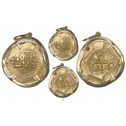 Mexico City, Mexico, cob 8 escudos, Philip V, assayer J (style of 1711-13), from the 1715 Fleet, mou
