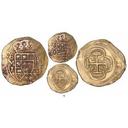 Mexico City, Mexico, cob 8 escudos, 1715J, from the 1715 Fleet.
