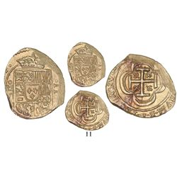 Mexico City, Mexico, cob 2 escudos, (171)4J, from the 1715 Fleet.