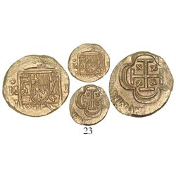 Mexico City, Mexico, cob 1 escudo, (1714), assayer J, from the 1715 Fleet.