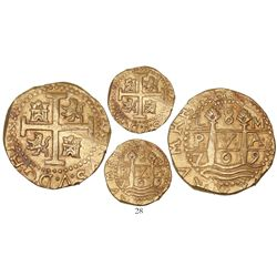 Lima, Peru, cob 8 escudos, 1709M, from the 1715 Fleet.