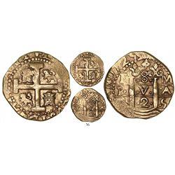 Lima, Peru, cob 8 escudos, 1725M, Louis I, rare.